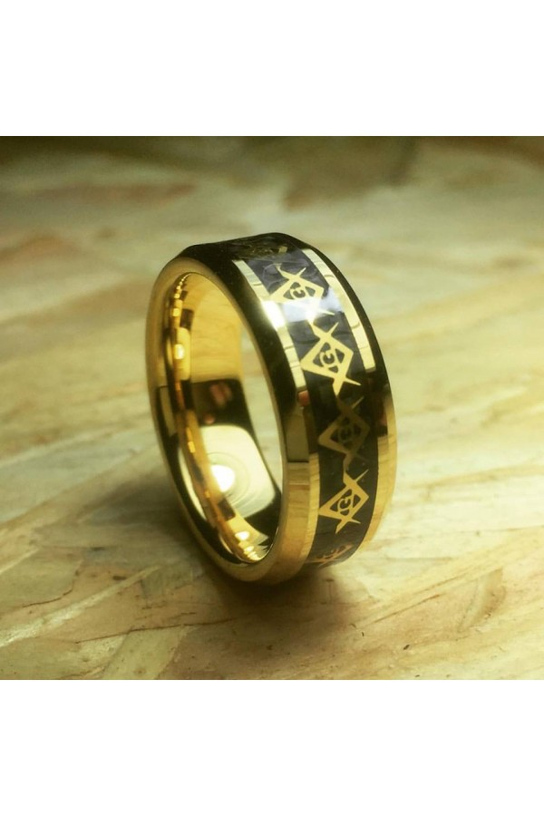 Aliança De Tungstênio Masonic 8mm