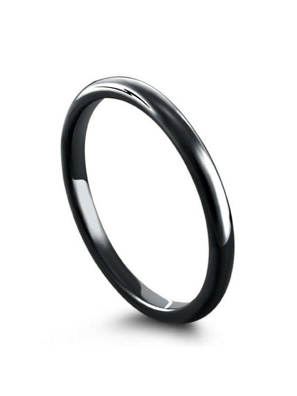 Aliança De Tungstênio Classic 2mm Black