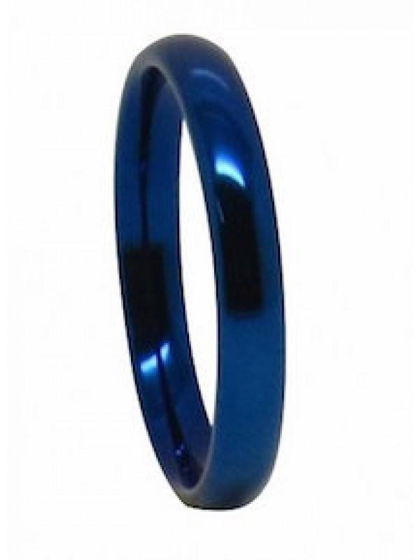 Aliança De Tungstênio Classic 4mm Blue