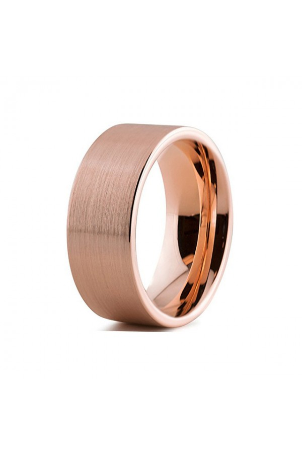 Aliança De Tungstênio Rose Gold Ágora 8mm