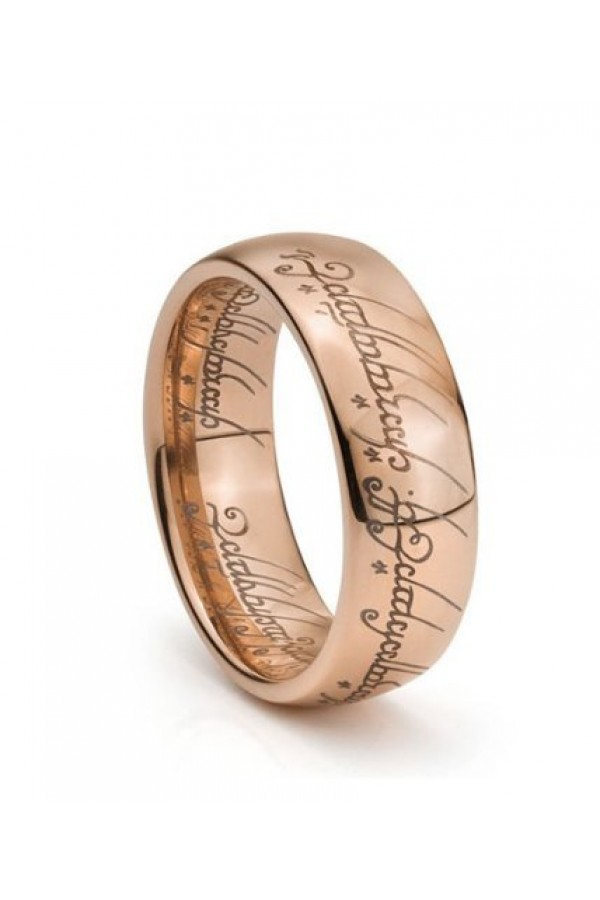 Aliança de Tungstenio Amor Élfico Rose Gold 8mm