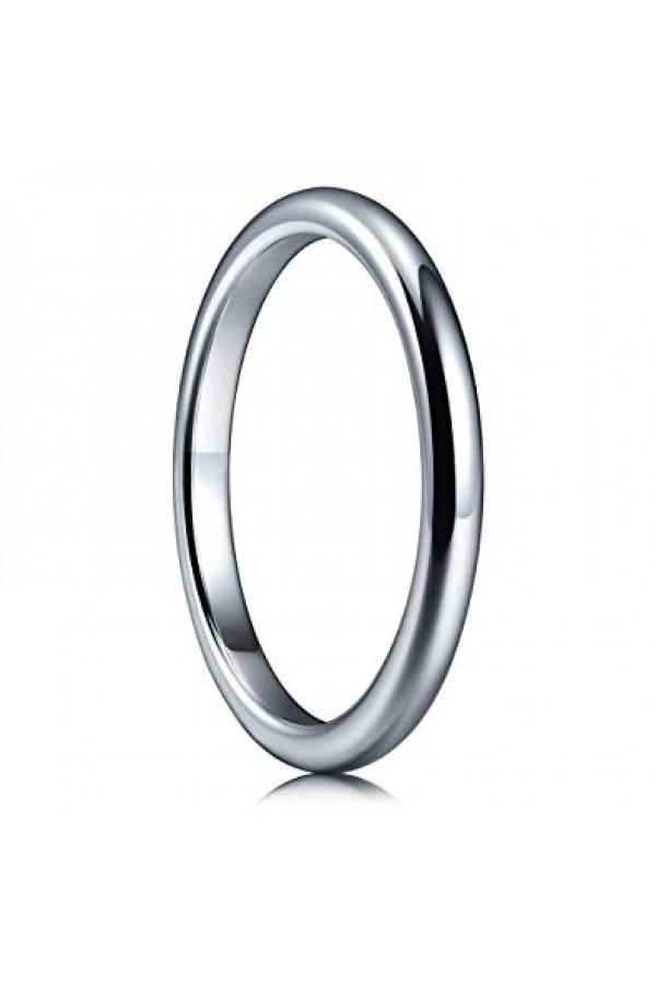 Aliança De Tungstênio Classic 2mm Prata