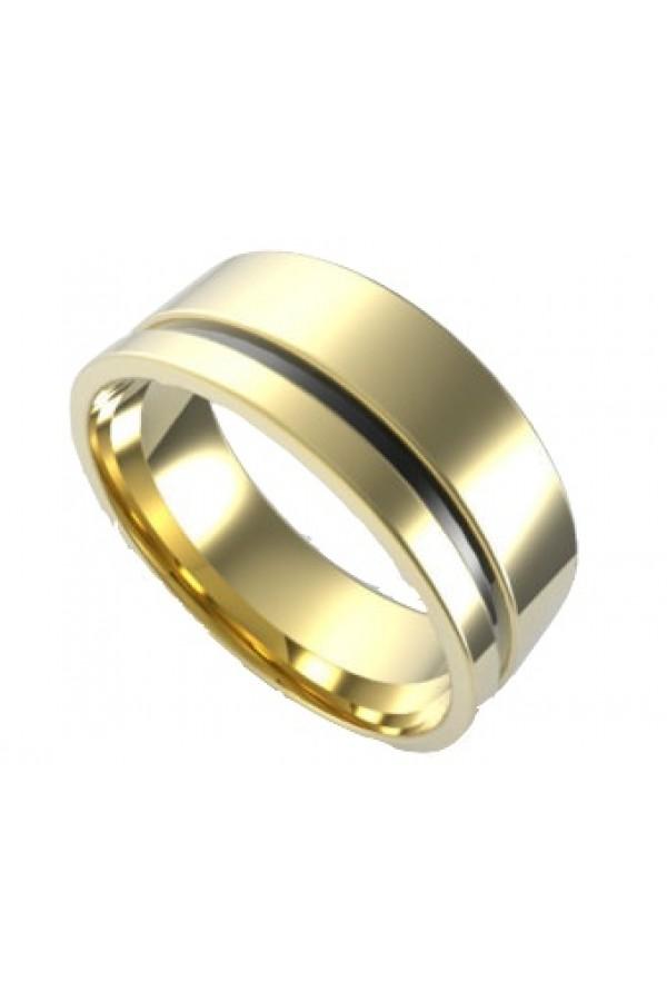Aliança De Tungstênio Pilos Gold 4mm